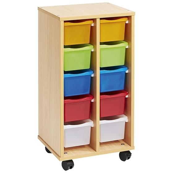 Εικόνα της Τροχήλατη Συρταριέρα με Χρωματιστά Συρταράκια
