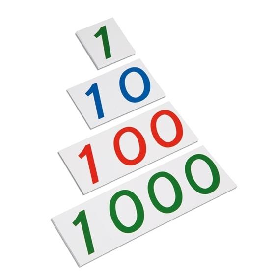 Εικόνα της Μέγαλοι χάρτινοι αριθμοί 1-1000