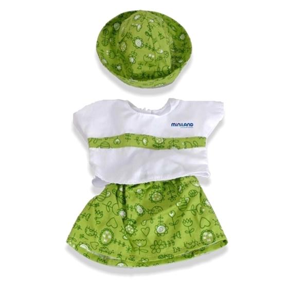 Εικόνα της Πράσινο φόρεμα με καπέλο