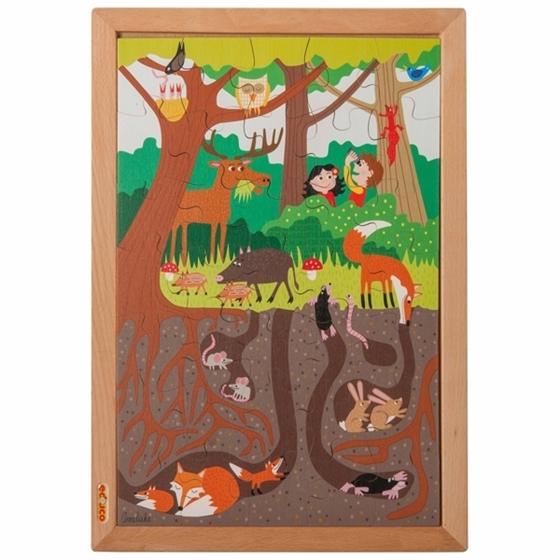 """Εικόνα της Ξύλινο Παζλ Πάνω Κάτω """"Δάσος"""""""