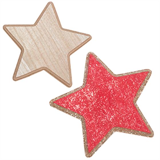 Εικόνα της Ξύλινο μεγάλο διακοσμητικό αστέρι