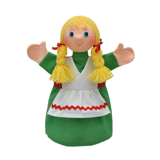 """Εικόνα της Γαντόκουκλα """"Κοριτσάκι με πλεξίδες"""""""