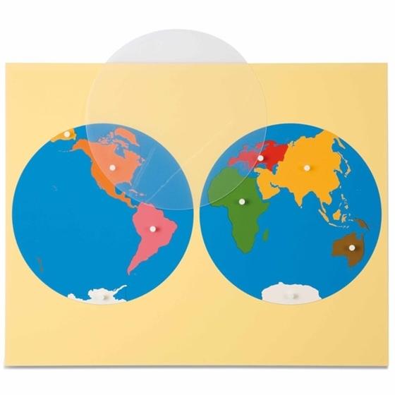 Εικόνα της Puzzle Map: World Parts