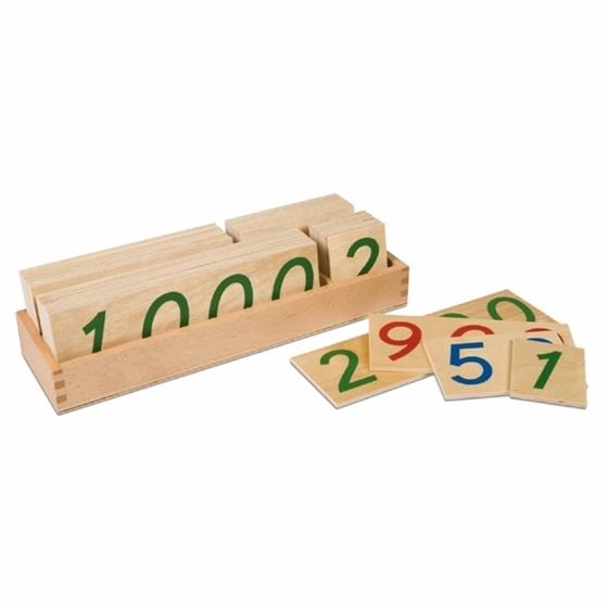 Εικόνα της Large Number Cards 1-9000. Ξύλινα