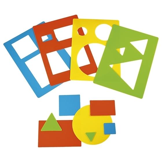 Εικόνα της Στένσιλ Γεωμετρικά σχήματα.